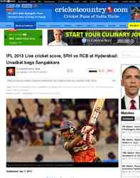 IPL 2013 Live cricket score SRH vs RCB: Cricket Country